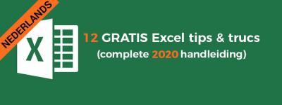 12 GRATIS Excel tips en trucs die uitzonderlijk goed werken (complete 2020 handleiding)